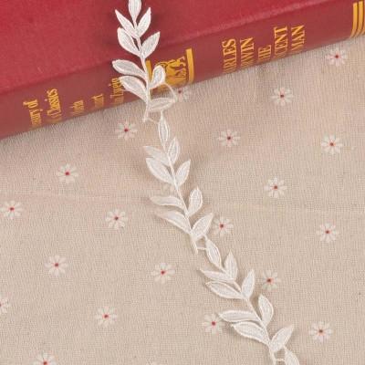 Кружево, Белые листья 45 см