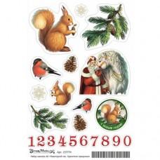 Набор наклеек Новогодний лес. Хранители праздника