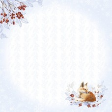 Бумага для скрапбукинга Снежная клюква. Лисичка 30,5 х 30,5