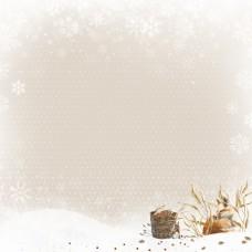 Бумага для скрапбукинга Снежная клюква. Зимнее угощение 30,5 х 30,5