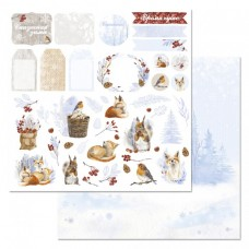 Бумага для скрапбукинга Снежная клюква. Картинки 30,5 х 30,5
