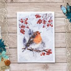 Тканевая карточка Снежная клюква. Птица
