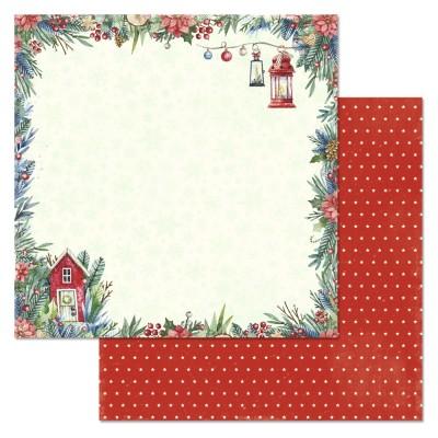 Бумага для скрапбукинга Сказка на Рождество. Домик 30,5 х 30,5 см