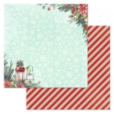 Бумага для скрапбукинга Сказка на Рождество. Фонарики 30,5 х 30,5 см