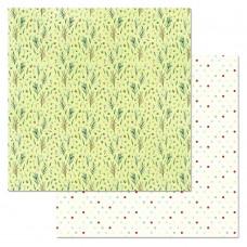 Бумага для скрапбукинга Сказка на Рождество. Веточки 30,5 х 30,5 см