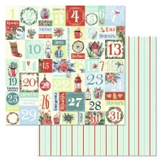 Бумага для скрапбукинга Сказка на Рождество. Адвент-календарь 30,5 х 30,5 см