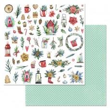 Бумага для скрапбукинга Сказка на Рождество. Картинки 30,5 х 30,5 см