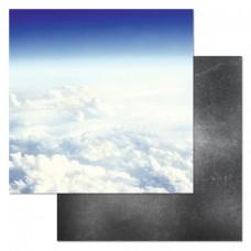 Бумага для скрапбукинга Армейский альбом. Чистое небо 30,5 х 30,5