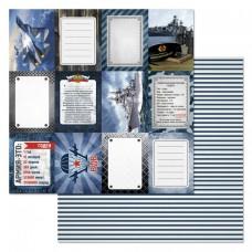 Бумага для скрапбукинга Армейский альбом. Карточки 30,5 х 30,5