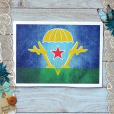 Тканевая карточка Армейский альбом. Флаг ВДВ