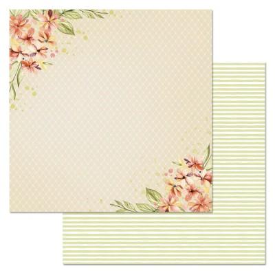 Бумага для скрапбукинга Варенье из одуванчиков. Лучики солнца 30,5 х 30,5 см