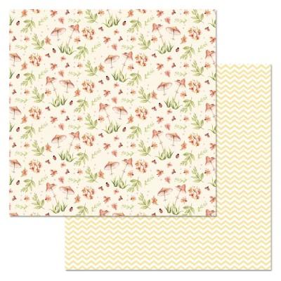 Бумага для скрапбукинга Варенье из одуванчиков. Грибочки 30,5 х 30,5 см