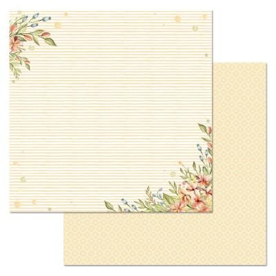 Бумага для скрапбукинга Варенье из одуванчиков. Звонкие колокольчики 30,5 х 30,5 см