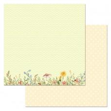 Бумага для скрапбукинга Варенье из одуванчиков. Полянка 30,5 х 30,5 см
