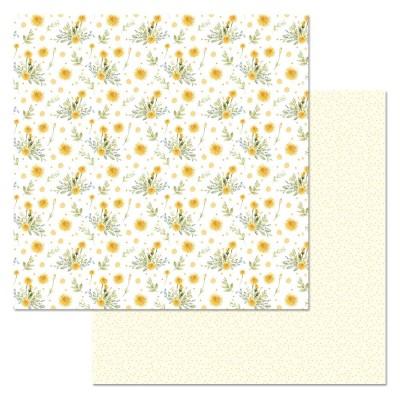Бумага для скрапбукинга Варенье из одуванчиков. Пушистики 30,5 х 30,5 см