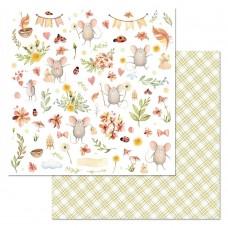 Бумага для скрапбукинга Варенье из одуванчиков. Картинки 30,5 х 30,5 см