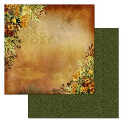 Бумага для скрапбукинга Ворожея. Огненный цветок 30,5 х 30,5 см