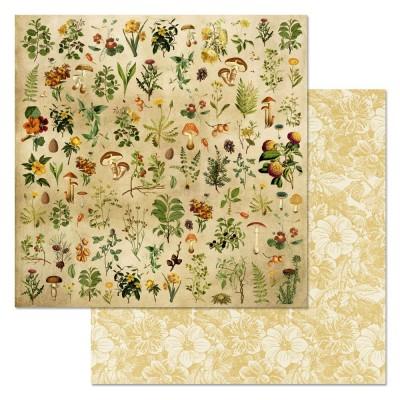 Бумага для скрапбукинга Ворожея. Лесной сбор 30,5 х 30,5 см