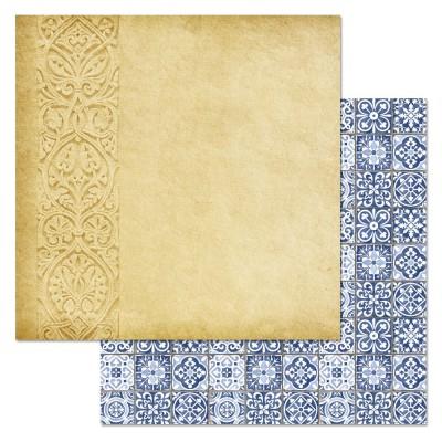 Бумага для скрапбукинга Сердце востока. Рельефы солнца 30,5 х 30,5 см