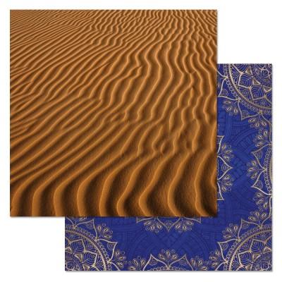Бумага для скрапбукинга Сердце востока. Золотые пески 30,5 х 30,5 см