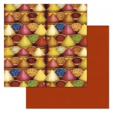 Бумага для скрапбукинга Сердце востока. Пряности 30,5 х 30,5 см