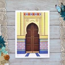 Тканевая карточка Сердце востока. Коричневая дверь