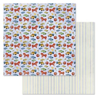 Бумага для скрапбукинга Шалунишка. Игрушки 30,5 х 30,5 см