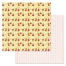 Бумага для скрапбукинга Кудряшка. Игрушки 30,5 х 30,5 см