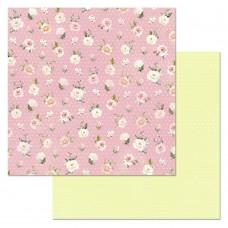 Бумага для скрапбукинга Кудряшка. Цветы 30,5 х 30,5 см