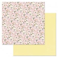 Бумага для скрапбукинга Кудряшка. Нежность 30,5 х 30,5 см
