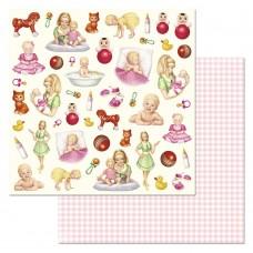 Бумага для скрапбукинга Кудряшка. Картинки 30,5 х 30,5 см