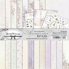 Набор бумаги Цветочная вуаль 30,5х30,5 см