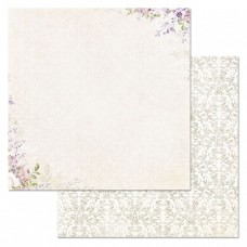 Бумага для скрапбукинга Цветочная вуаль. Пудра 30,5х30,5 см