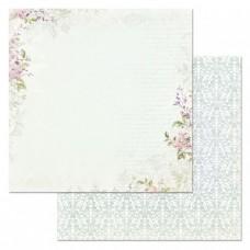 Бумага для скрапбукинга Цветочная вуаль. Записки о счастье 30,5х30,5 см