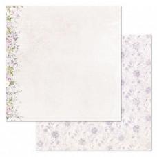 Бумага для скрапбукинга Цветочная вуаль. На кончиках лепестков 30,5х30,5 см