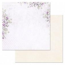 Бумага для скрапбукинга Цветочная вуаль. История любви 30,5х30,5 см