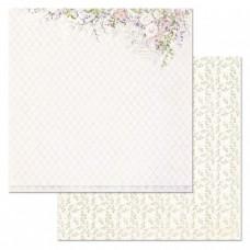 Бумага для скрапбукинга Цветочная вуаль. Шелест роз 30,5х30,5 см