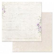 Бумага для скрапбукинга Цветочная вуаль. Солнечный дамаск 30,5х30,5 см