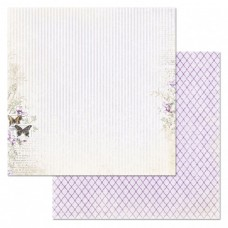 Бумага для скрапбукинга Цветочная вуаль. Линии нежности 30,5х30,5 см