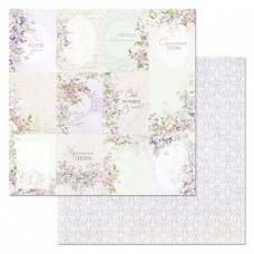 Бумага для скрапбукинга Цветочная вуаль. Карточки 30,5х30,5 см