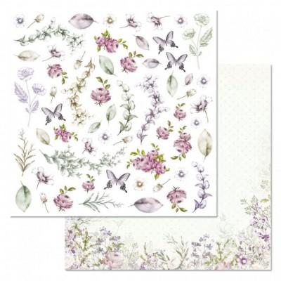 Бумага для скрапбукинга Цветочная вуаль. Картинки 30,5х30,5 см