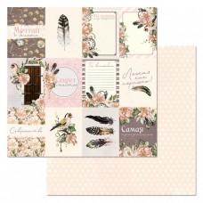Бумага для скрапбукинга Девичья тайна. Карточки 30,5х30,5 см