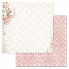 Бумага для скрапбукинга Алиса в сказке. Крокет с фламинго 30,5х30,5 см