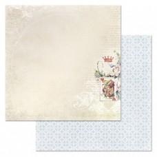 Бумага для скрапбукинга Алиса в сказке. Моя королева 30,5х30,5 см