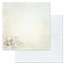 Бумага для скрапбукинга Алиса в сказке. Чайник для Сони 30,5х30,5 см