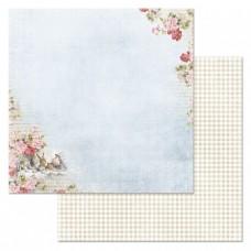 Бумага для скрапбукинга Алиса в сказке. Безумное чаепитие 30,5х30,5 см