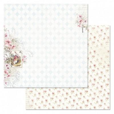 Бумага для скрапбукинга Алиса в сказке. Следуй за белым кроликом 30,5х30,5 см