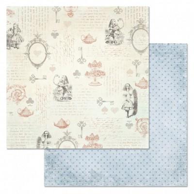 Бумага для скрапбукинга Алиса в сказке. Чудеса 30,5х30,5 см