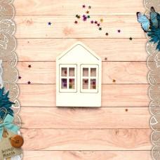 Шейкер Имбирное Рождество Новогодний Домик с двумя окнами (маленький)