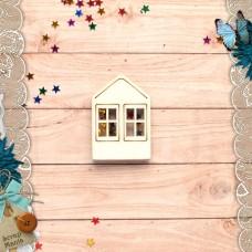 Шейкер Имбирное Рождество Новогодний Домик с двумя окнами (мини)